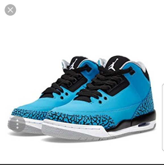 new products ed58a 2f849 New Jordan Retro 3 Powder Blue Kids